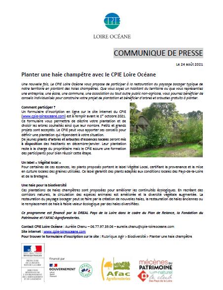 Image de couverture - Planter une haie champêtre avec la CPIE Loire Océane afin d'améliorrer les continuités ecologiques