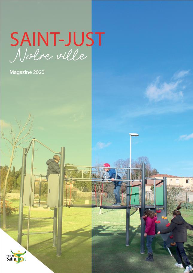 """Image de couverture - Magazine """"Saint-Just notre ville"""""""