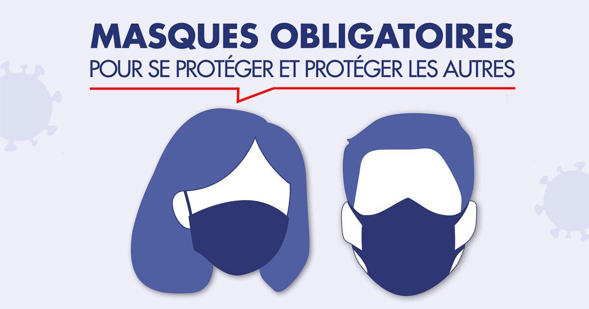 Image de couverture - Rappel : port du masque obligatoire