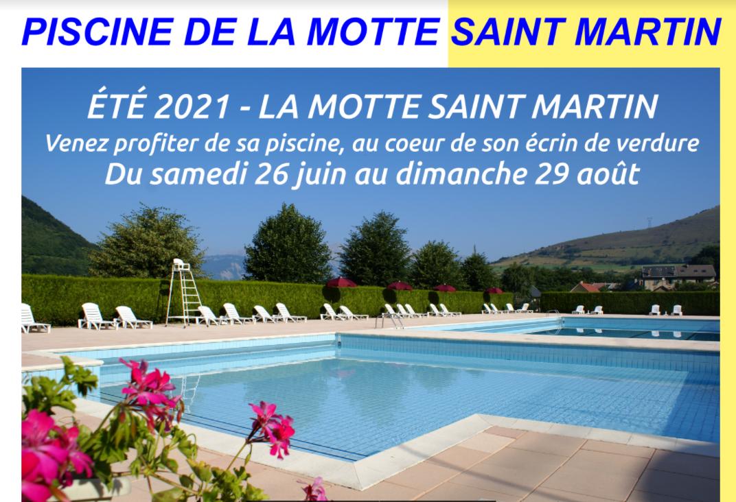 Image de couverture - OUVERTURE DE LA PISCINE - LA MOTTE ST MARTIN