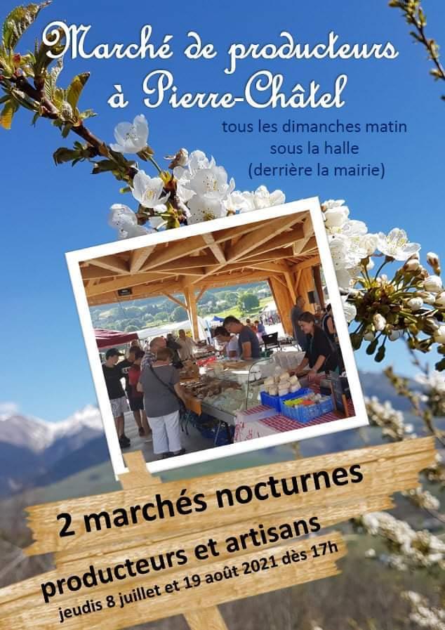 Image de couverture - 2 marchés nocturnes cet été à Pierre-Chatêl