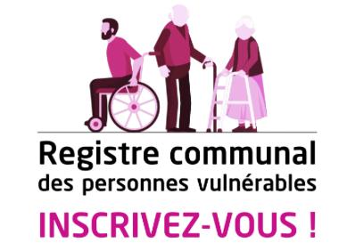 Image de couverture - REGISTRE COMMUNAL DES PERSONNES VULNÉRABLES