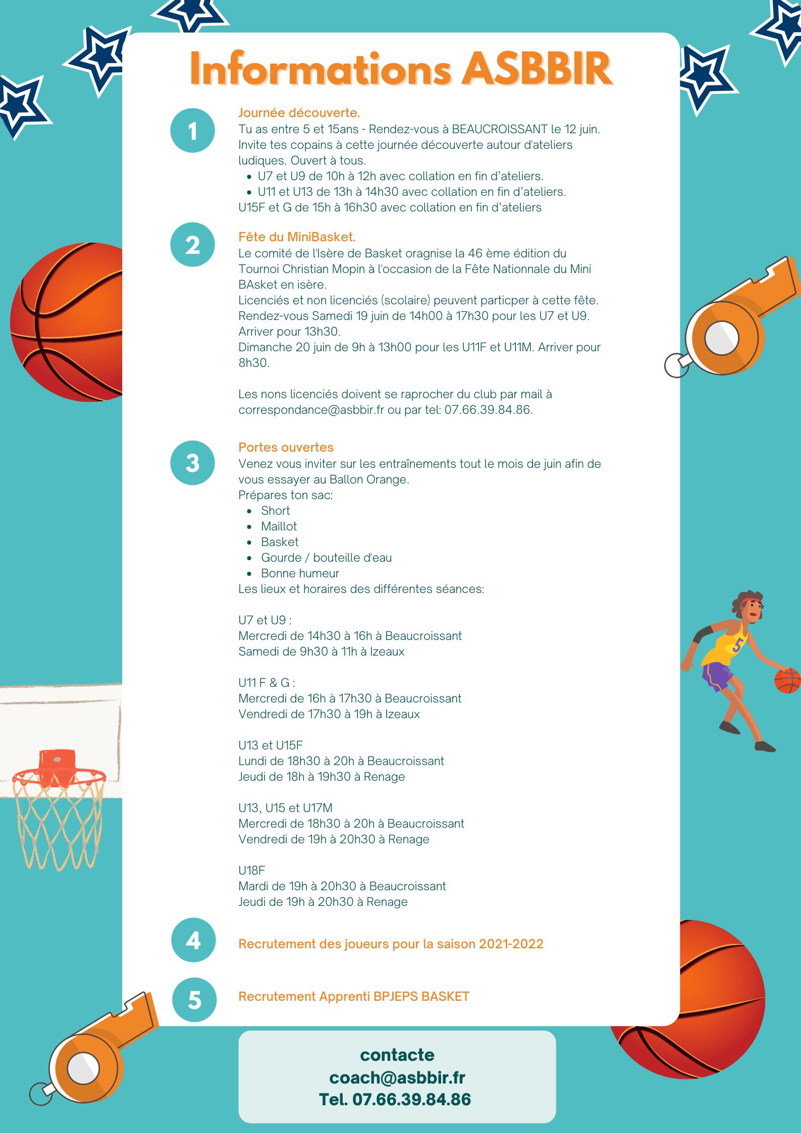 Image de couverture - [INFORMATIONS Club de basket ASBBIR]