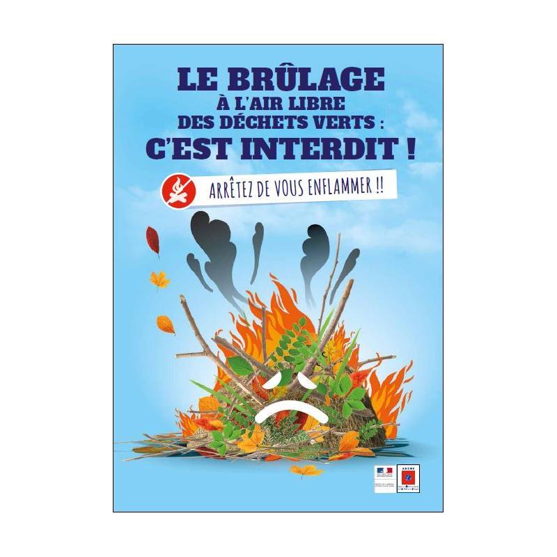 Image de couverture - Interdiction de brûlage des déchets verts.