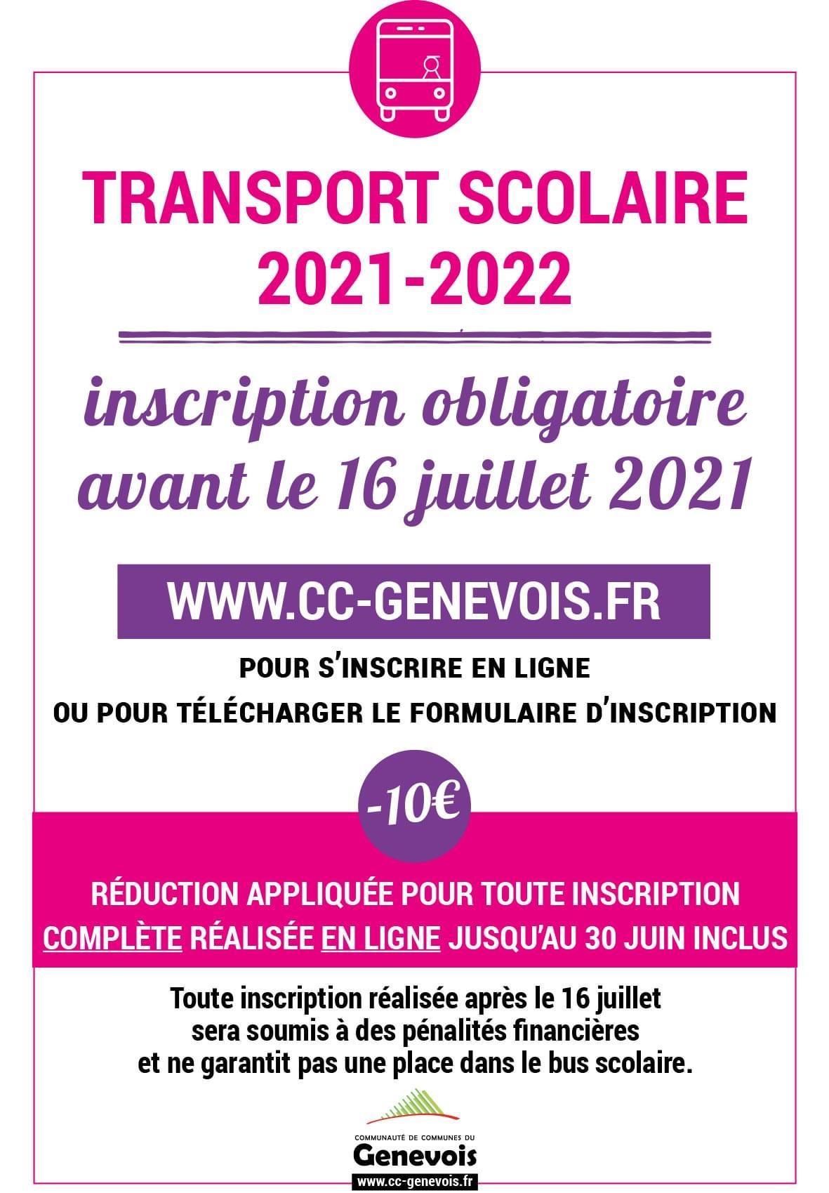 Image de couverture - Inscription au service de transport scolaire
