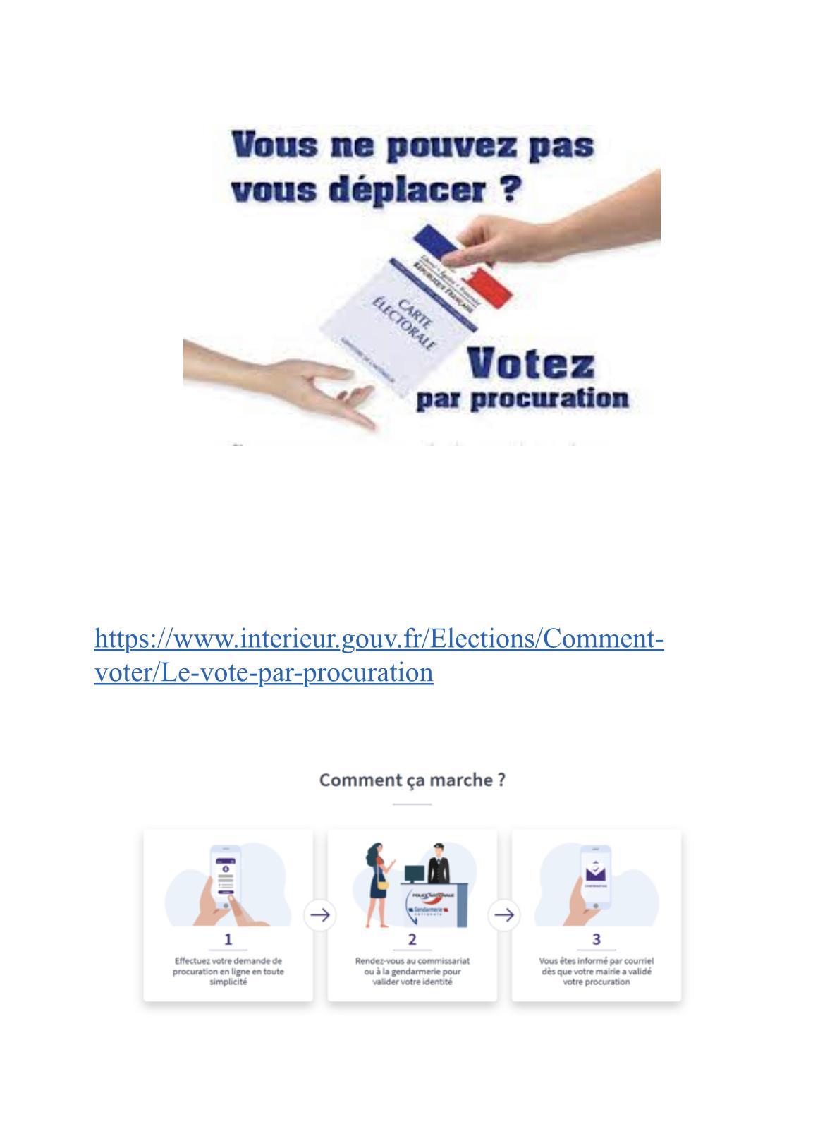 Image de couverture - Élections 20 et 27 juin.. Vote par procuration