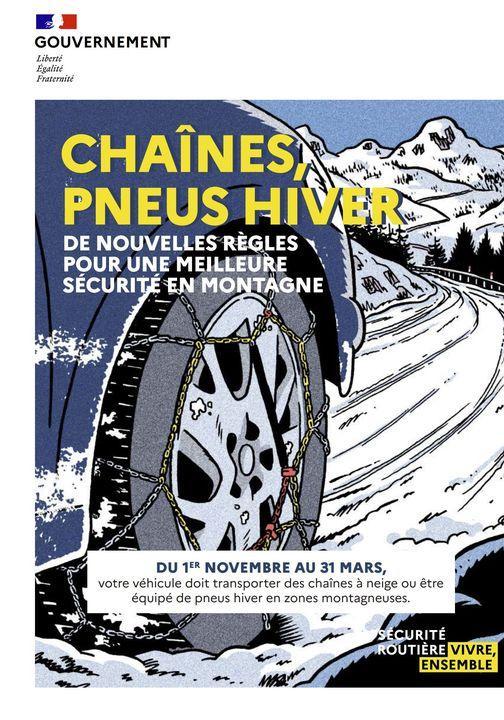Image de couverture - Sécurité : Équipement pneus hiver ou chaînes OBLIGATOIRE !