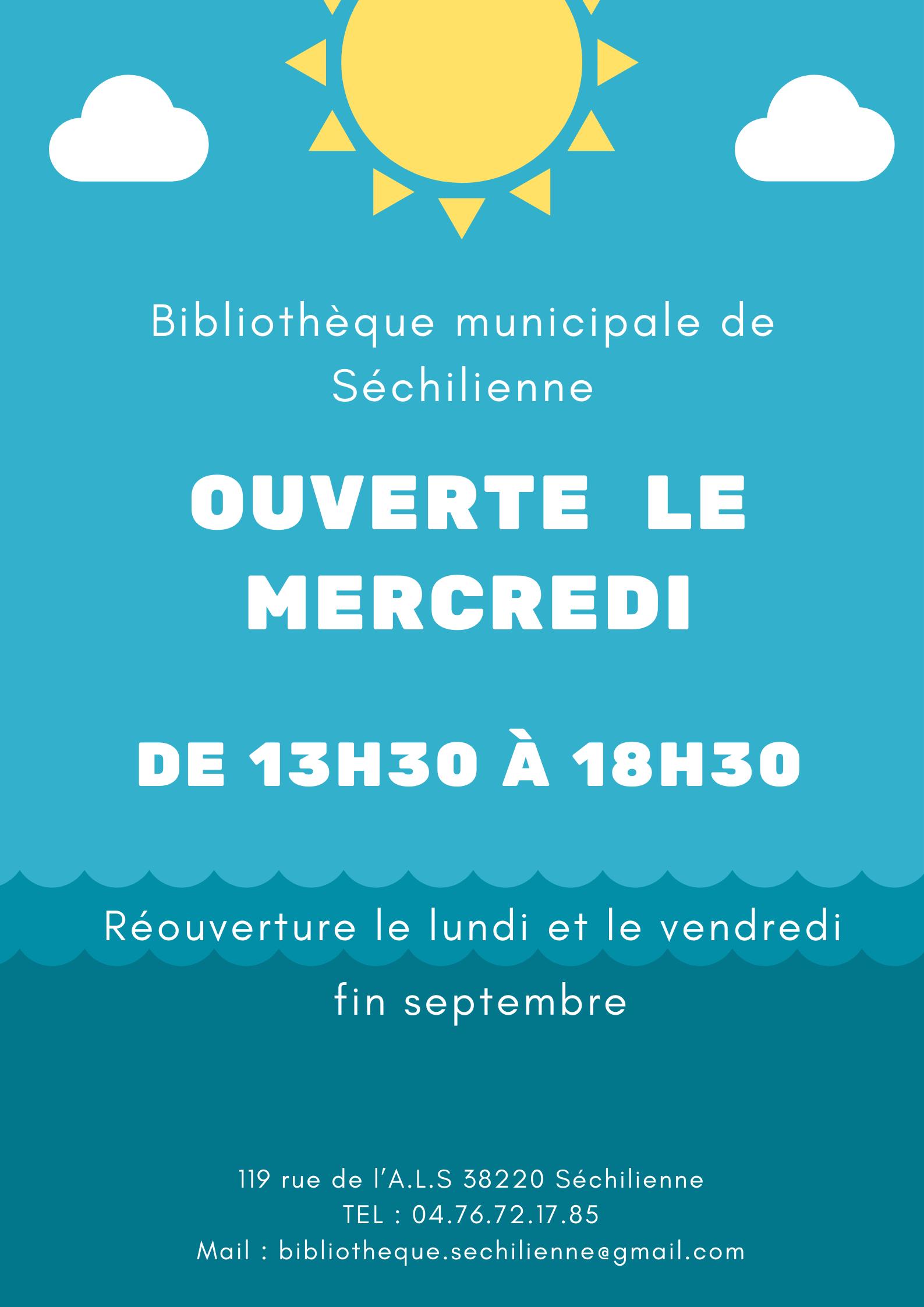 Image de couverture - Ouverture de la bibliothèque en septembre