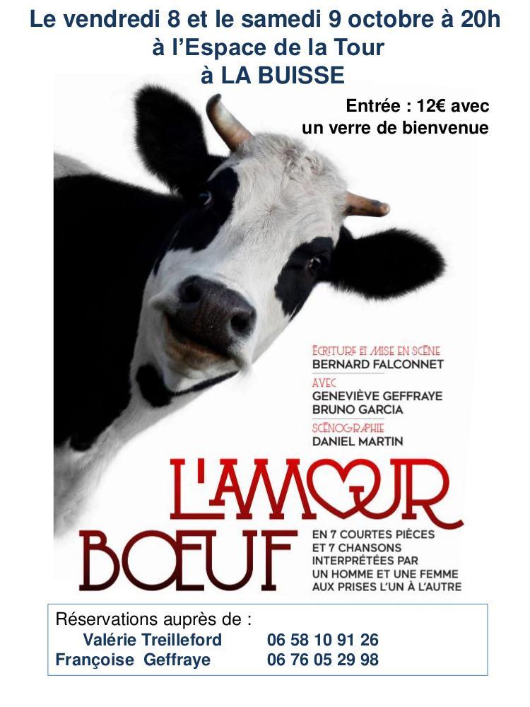 Image de couverture - L'AMOUR BŒUF, les 8 et 9 octobre à l'Espace de la Tour