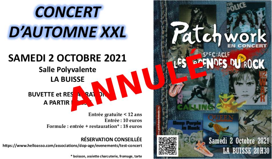Image de couverture - Annulation du concert d'automne de l'association Dop'Age