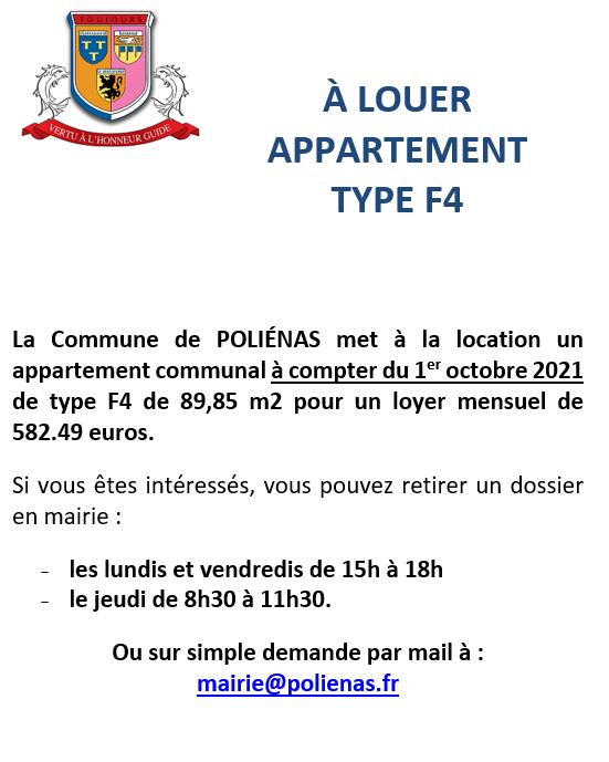 Image de couverture - LOCATION APPARTEMENT COMMUNAL type F4 : attention, vous avez jusqu'au 26 octobre pour déposer votre dossier de demande de logement.