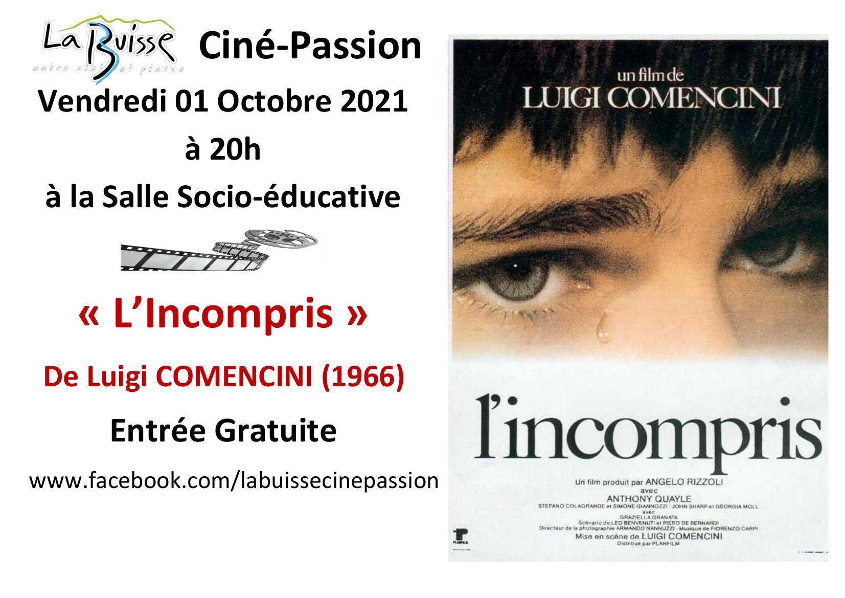 """Image de couverture - La Buisse Ciné-Passion : projection gratuite du film """"L'incompris"""", de Luigi Comencini"""
